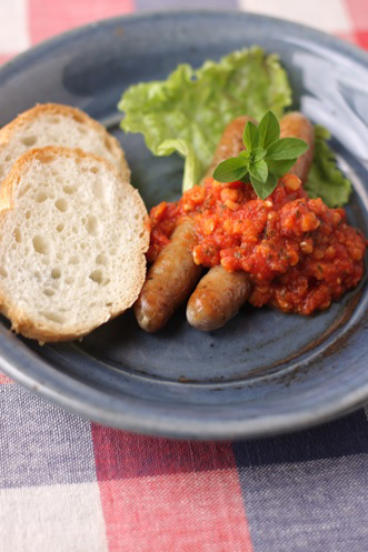 ほっくり!ソーセージとオレガノ風味トマトソースのレシピ