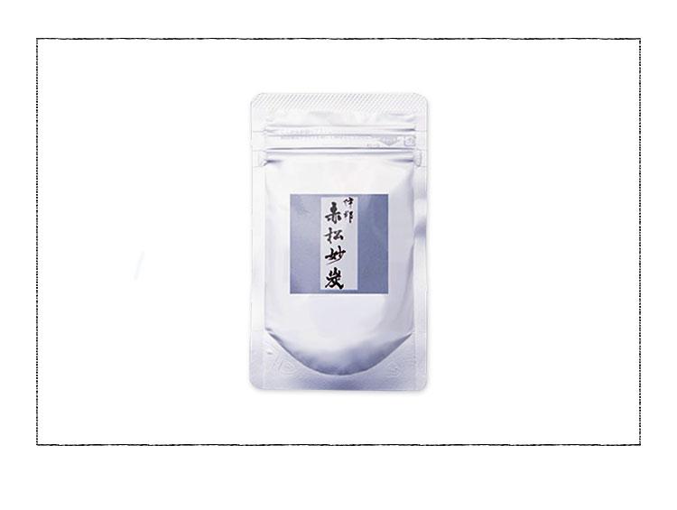 伊那赤松妙炭 炭茶 アルミパック(炭プラスラボ)