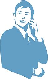 電話する男性のイラスト