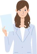 書類を持つ女性のイラスト