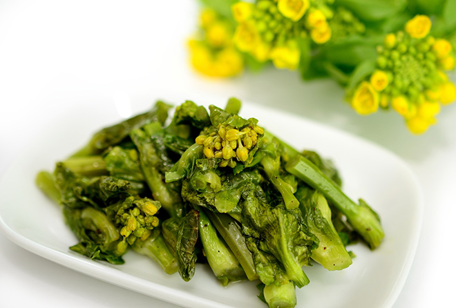 花粉症のあなたに食べて欲しい「菜の花の梅ごま和え」