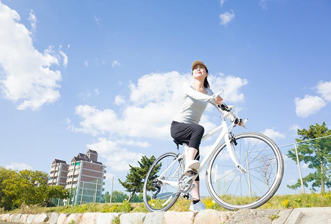 私ウツかも……。おにぎりを持ってサイクリングが効く!