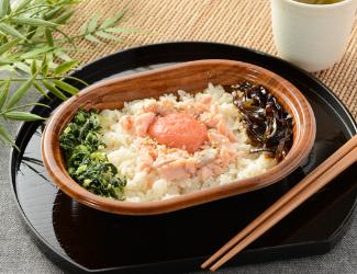 鮭ほぐしと明太子ご飯