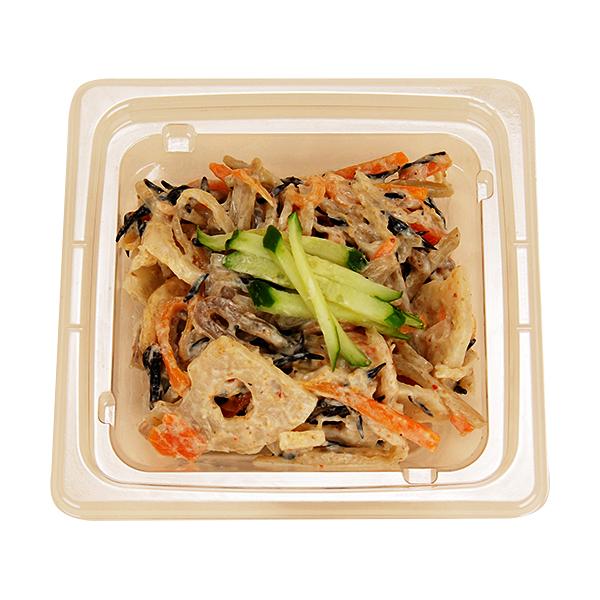 根菜とひじきのごまマヨサラダ