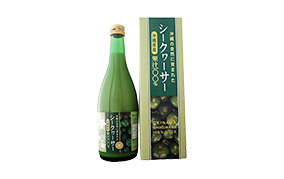 沖縄の自然に育まれたシークヮーサー果汁100%(沖縄アロエ)
